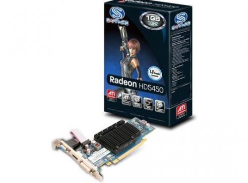 Placa Video Sapphire ATI Radeon HD5450, AMD Radeon HD5450, HM VRAM, PCI-EX2.0, 1024MB, DDR3 64bit, 650/1000MHz, DVI/VGA/HDMI, Single Slot Heatsink, DirectX11
