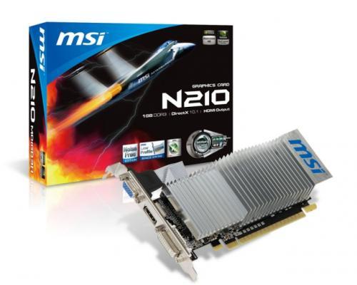 Placa Video MSI NVIDIA GeForce GTS210,PCI-E 2.0, GDDR3 1024MB,64bit,DVI,HDMI,DirectX 11