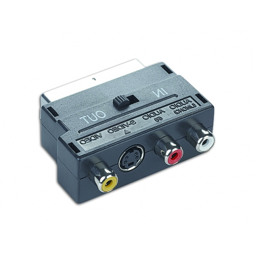 ADAPTOR Gembird EUROSCART to 3x RCA + 1x S-VIDEO CCV-4415