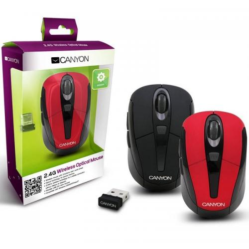 Mouse de notebook Canyon CNR-MSOW06R, Red