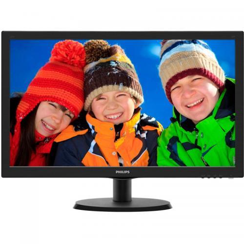 "Monitor LED Philips 223V5LSB2/10 21.5"", FullHD (1920x1080), 5ms, 10mil:1, 200cd/m2, VGA, Black"