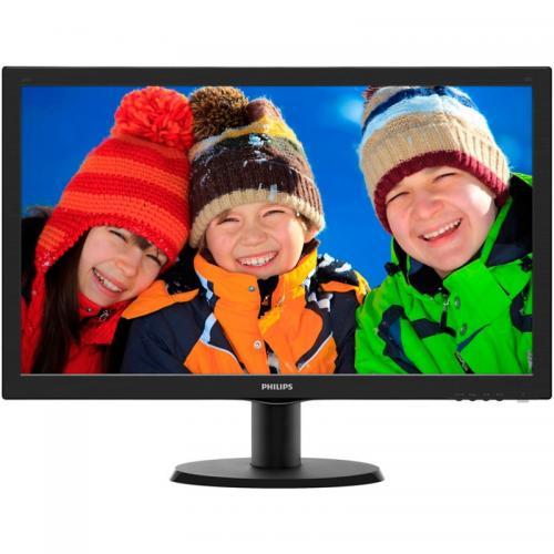 "Monitor LED Philips 243V5LSB/00, 23.6"" FullHD (1920x1080), 5ms, 250cd/mp, 10mil:1, VGA/DVI-D, Negru"