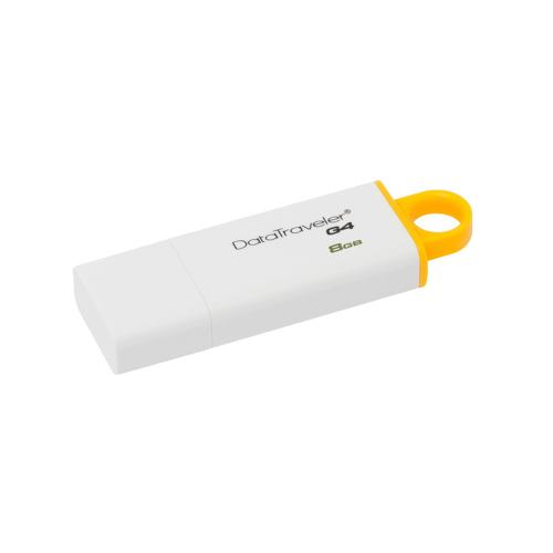 Memorie USB Kingston DataTraveler DTIG4, 8GB, USB 3.0, Alb/Galben