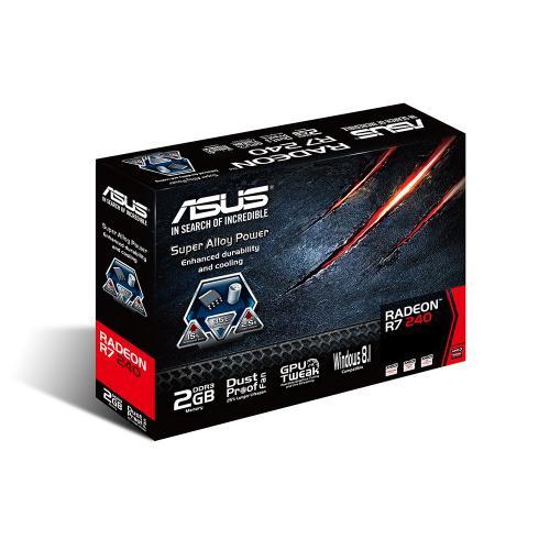 Placa video Asus AMD Radeon R7 240, 2GB DDR3, 128 bit, VGA/DVI/HDMI, PCI-E