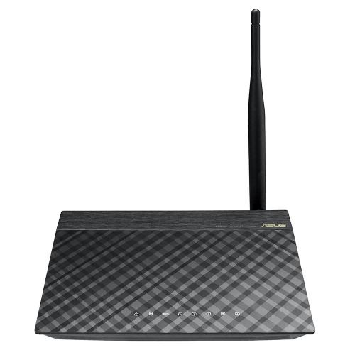 Router wireless ASUS RT-N10, wireless N 150Mbps, Repeater function, antenna fixa 5dB, negru