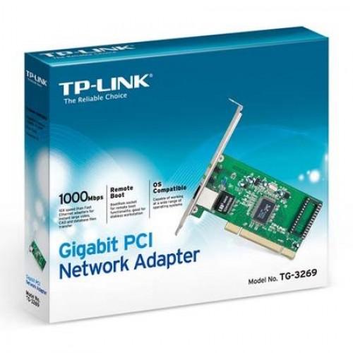 Placa de retea TP-LINK TG-3269, PCI, 32bit, 10/100/1000MBps, RJ45