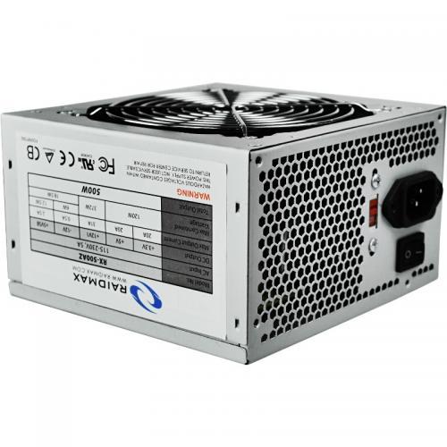 Sursa RAIDMAX RX-500AZ, 500W, PFC activ, ventilator 12cm, ATX 2.0, silver, retail