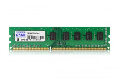 Memorie GoodRam GR1333D364L9S/4G, 4GB DDR3, 1333MHz, CL9