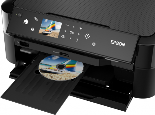 Multifunctional inkjet color Epson CISS L850, A4 (Printare, Copiere, Scanare), 37ppm, borderless, CD/DVD print, USB2.0