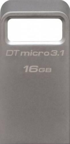 Memorie USB Flash Drive Kingston DataTraveler Micro 3.1, 16GB, USB 3.1, Metalic