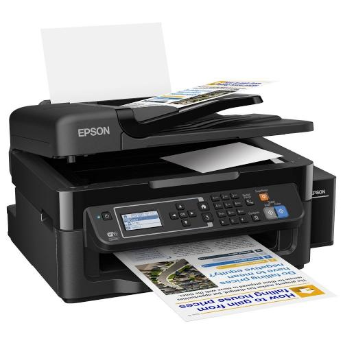 Multifunctional inkjet color CISS Epson L565, A4, printare, copiere, scannare, fax, 33ppm, ADF, USB2.0, LAN, wireless, negru