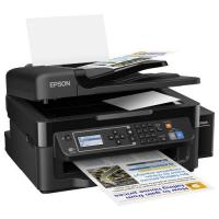 1 x Multifunctional inkjet color CISS Epson L565, A4, printare, copiere, scannare, fax, 33ppm, ADF, USB2.0, LAN, wireless, negru