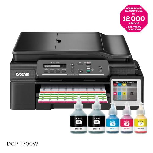 Multifunctional inkjet color CISS DCP-T700W, A4, printare, scanare, copiere, 33ppm, ADF, wireless, USB 2.0
