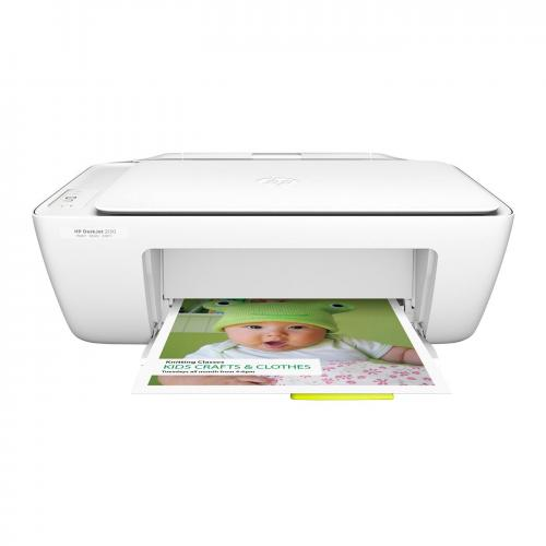 Multifunctional inkjet color HP Deskjet 2130 All-in-One, Alb