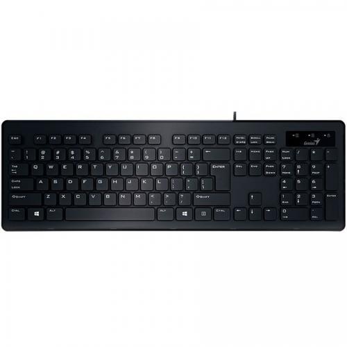 Tastatura Genius Slimstar 130, cu fir, USB, Neagra