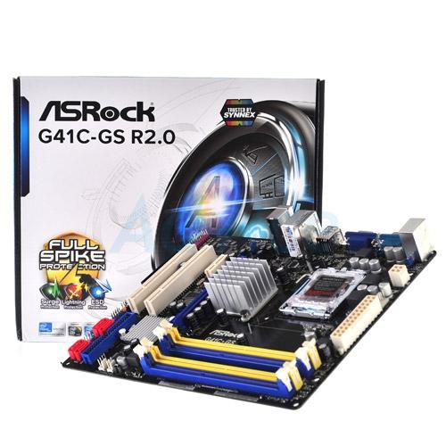 Placa de baza ASROCK G41C3-GS R2.0, sk. LGA775, chipset Intel G41, 2*DDR3 + 2*DDR2, GLAN, mATX
