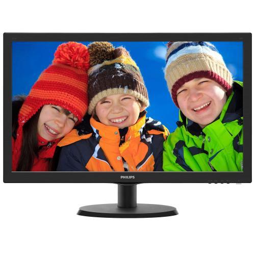 "Monitor LED Philips 223V5LHSB, 21.5"", Wide, Full HD, VGA/HDMI, Negru"