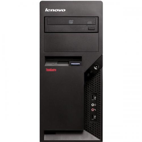 Sistem PC refurbished Lenovo M58P tower, Intel Core 2 Duo E8400 3GHz, RAM 4Gb DDR3, HDD 250GB, DRW, DOS