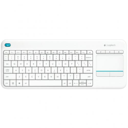 Tastatura wireless Logitech K400 Plus White, White