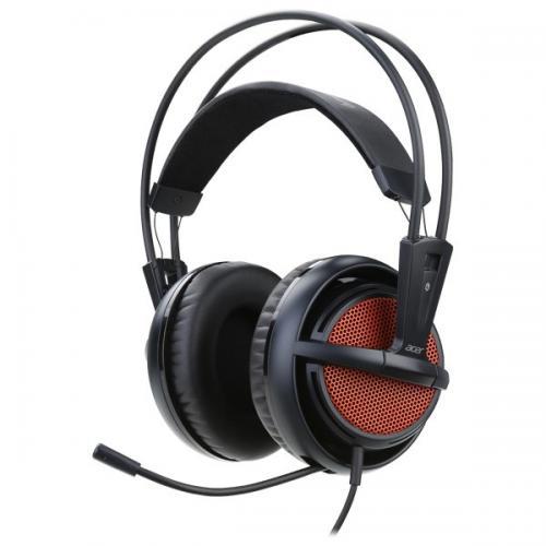 "Casti ACER PREDATOR GAMING HEADSET PHW510, microfon, buton ""mute"" si control volum casti, 3.5mm plug, Black & Red"