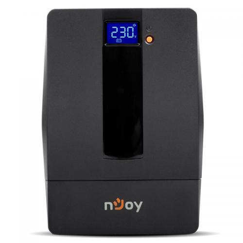 UPS nJoy Horus 1000 Plus, 1000VA/600W, afisaj LCD, AVR, schuko, negru