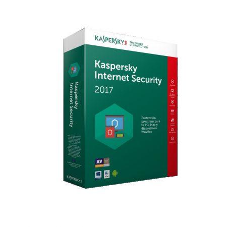 Licenta renew antivirus Kaspersky Internet Security 2017, 1 PC, 1 an + 3 luni gratuit, Retail, Renew