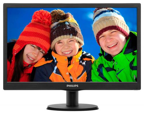 "Monitor LED Philips 203V5LSB26/62, 19.5"" HD+, 5ms, VGA, Negru"