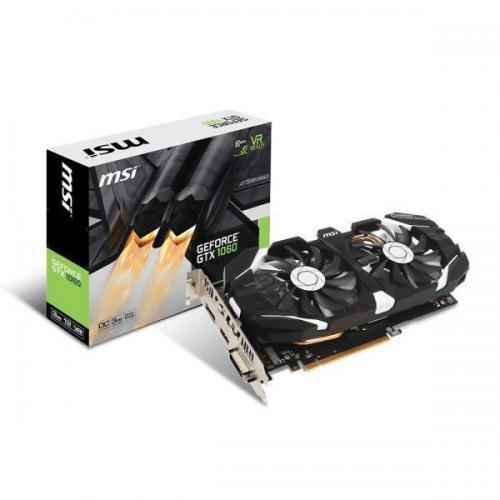 Placa video MSI NVIDIA GeForce GTX 1060 3GT OC, 3GB GDDR5, 192bit, dual fan, retail