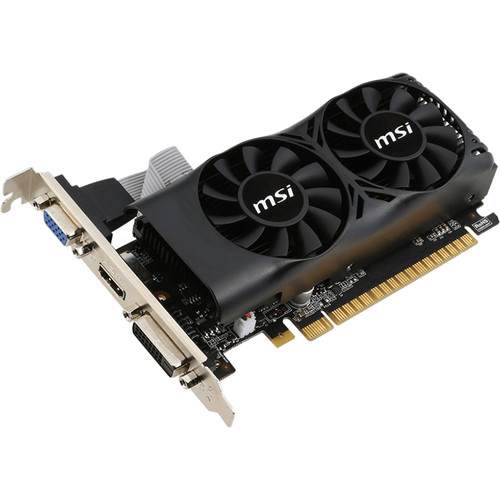 Placa video MSI GTX 1050 2GT LP, GTX1050, 2GB DDR5, 128bit, 1455/7008MHz, DVI-D/HDMI/DP, PCI-E