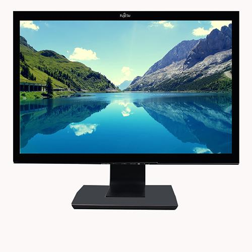 "Monitor Fujitsu P22W-5 ECO, 22"" LED IPS, 1680x1050, 5ms, contrast 1000:1, 300cd/m2, VGA/DVI/HDMI, boxe incorporate, negru - refurbished"
