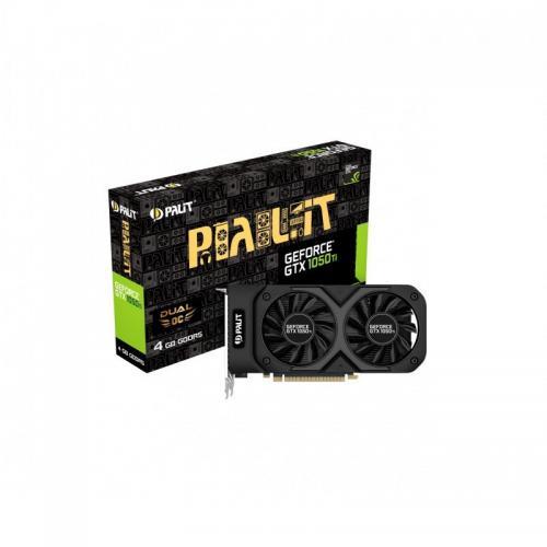 Palit video Palit GeForce GTX 1050 Ti Dual OC, 4GB GDDR5, 128bit, 1480MHz/7000MHz, HDMI/DVI/DP, PCI-E 3.0x16