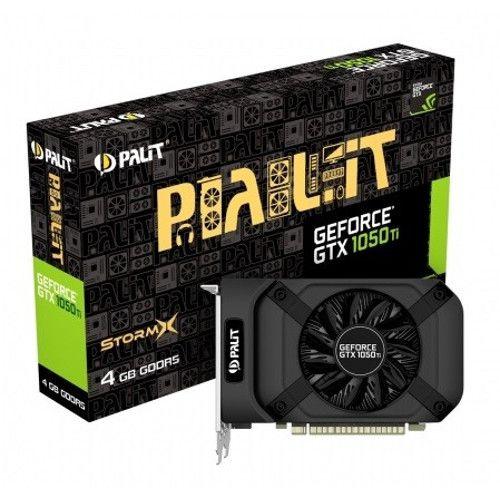Placa video Palit GeForce GTX 1050 Ti StormX, 4GB GDDR5, 128bit, 1392MHz/7000MHz, HDMI/DVI/DP, PCI-E 3.0x16