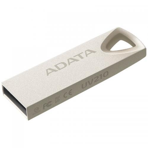 Memorie USB A-data AUV210-16G-RGD, 16GB, USB 2.0, Metalic