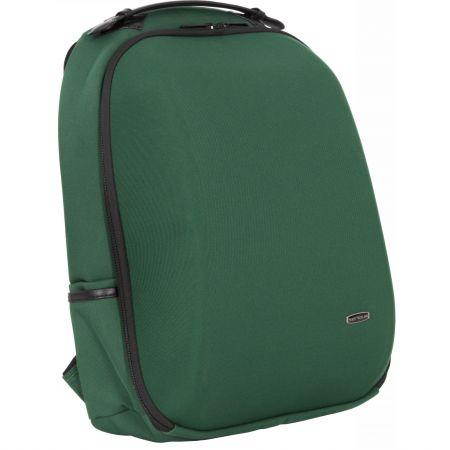 """Rucsac notebook Serioux BPK-1601, carcasa rigida, max 15.6"""", compartimentat, nylon, verde"""