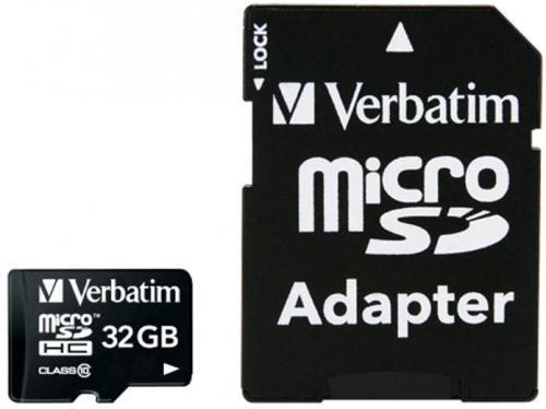 Card de memorie Verbatim 44083, 32GB, Clasa 10 + Adaptor
