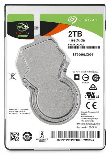 """Hard-disk Seagate Firecuda ST2000LX001, 2TB, SATA 3, 5400 rpm, 128MB, 2.5"""""""