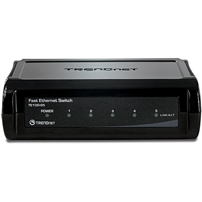 Switch TrendNet TE100-S5, Black