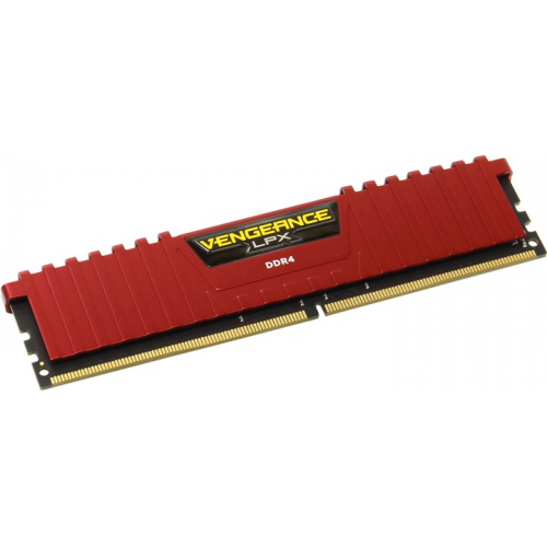 Memorie Corsair Vengeance LPX Red 8GB DDR4, 2400MHz, CL14, CMK8GX4M1A2400C14R