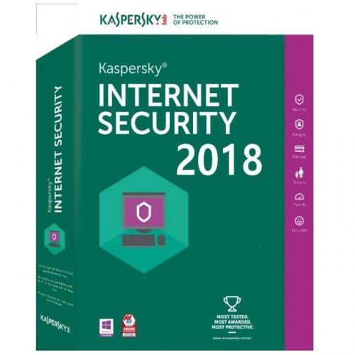 Licenta antivirus retail Kaspersky Internet Security 2018 , Nou, 1 AN - licenta valabila pentru 3 calculatoare