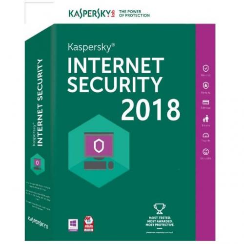 Licenta antivirus retail Kaspersky Internet Security 2018 , Nou, 1 AN - licenta valabila pentru 5 calculatoare