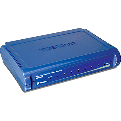 Switch TrendNet TE100-S8, Blue