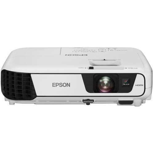 Videoproiector Epson EB-S41, 3LCD, SVGA (800x600), 3300lm, contrast 15000:1, alb, geanta transport