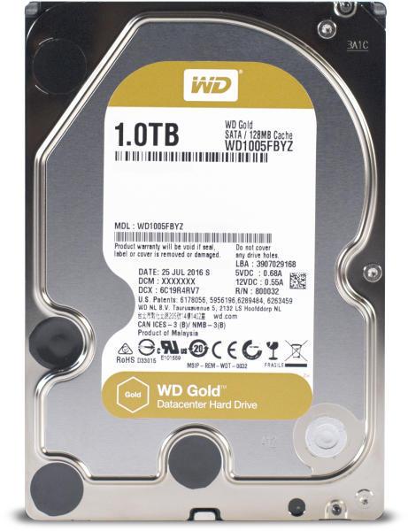 """Hard-disk Western Digital Gold WD1005FBYZ, 1TB, SATA 3, 7200 rpm, 128Mb, 3.5"""""""