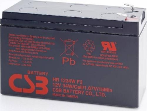 Baterie UPS CSB Battery HR1234WF2, Black