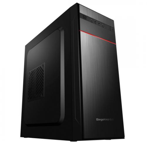 Carcasa Segotep Knight 01, ATX Mid Tower cu sursa de 500W, USB2.0, negru