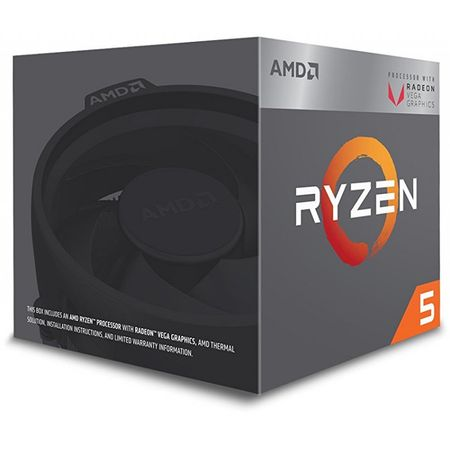 Procesor AMD Ryzen 5 2400G, 3.90GHz, 4C/8T, AM4, RX Vega Graphics, Wraith Stealth cooler, BOX
