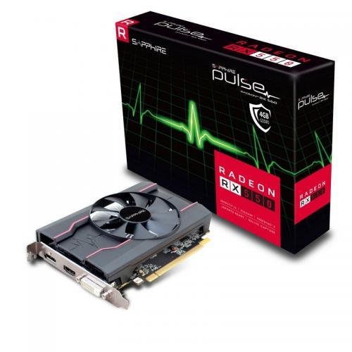 Placa video Sapphire PULSE Radeon RX 550, 4GB GDDR5, 128bit, PCI-E 3.0, HDMI, DVI-D, DP, retail