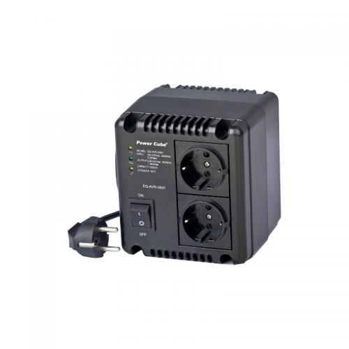 Stabilizator tensiune Gembird EG-AVR-1001, Black