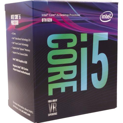 Procesor Intel Core i5-8400 2.8GHz (pana la 4.00GHz), 6C/6T, sk. LGA1151, 9MB, 65W, BOX