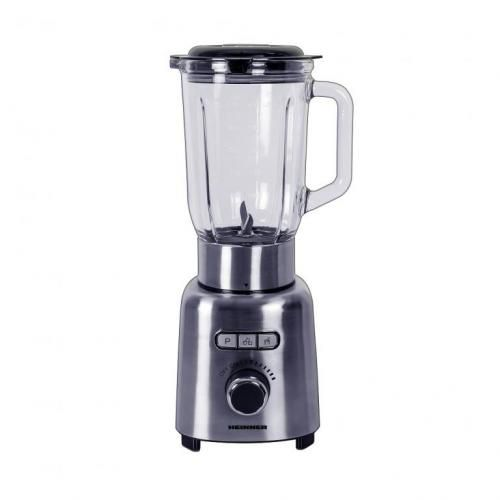 Blender Heinner HBL-ICE1000XMC, 1000 W, 1.5 l, Viteza variabila, Pulse, Zdrobire gheata, Bol sticla, Inox